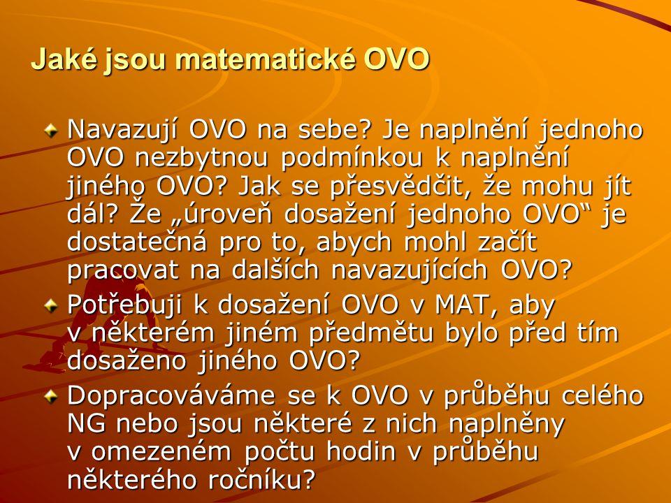 Jaké jsou matematické OVO Navazují OVO na sebe.