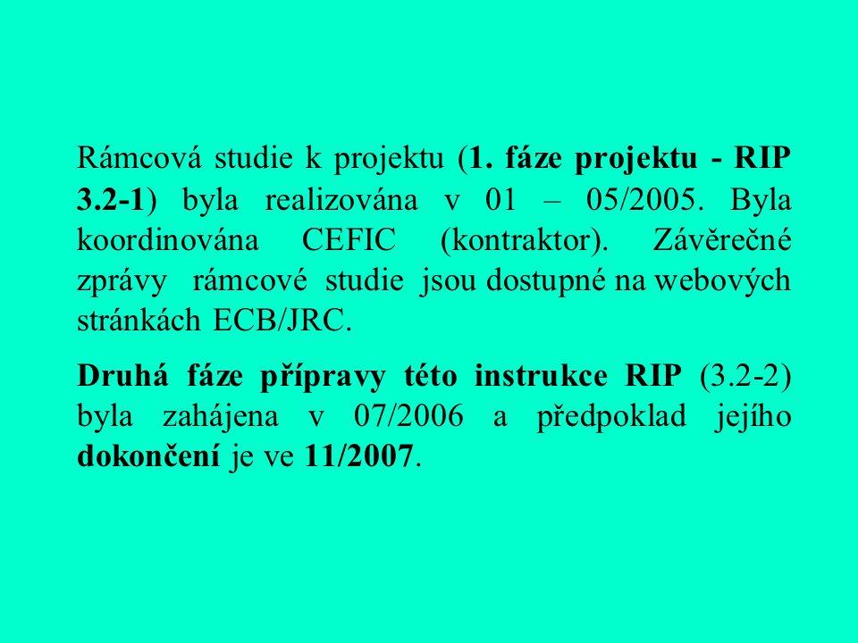 Rámcová studie k projektu (1. fáze projektu - RIP 3.2-1) byla realizována v 01 – 05/2005.