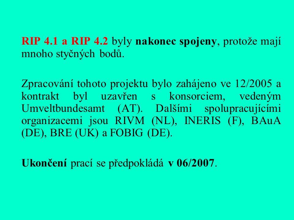 RIP 4.1 a RIP 4.2 byly nakonec spojeny, protože mají mnoho styčných bodů.