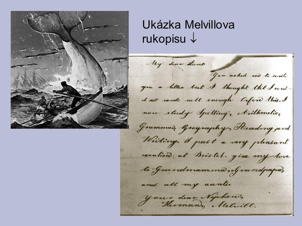 Ukázka Melvillova rukopisu 