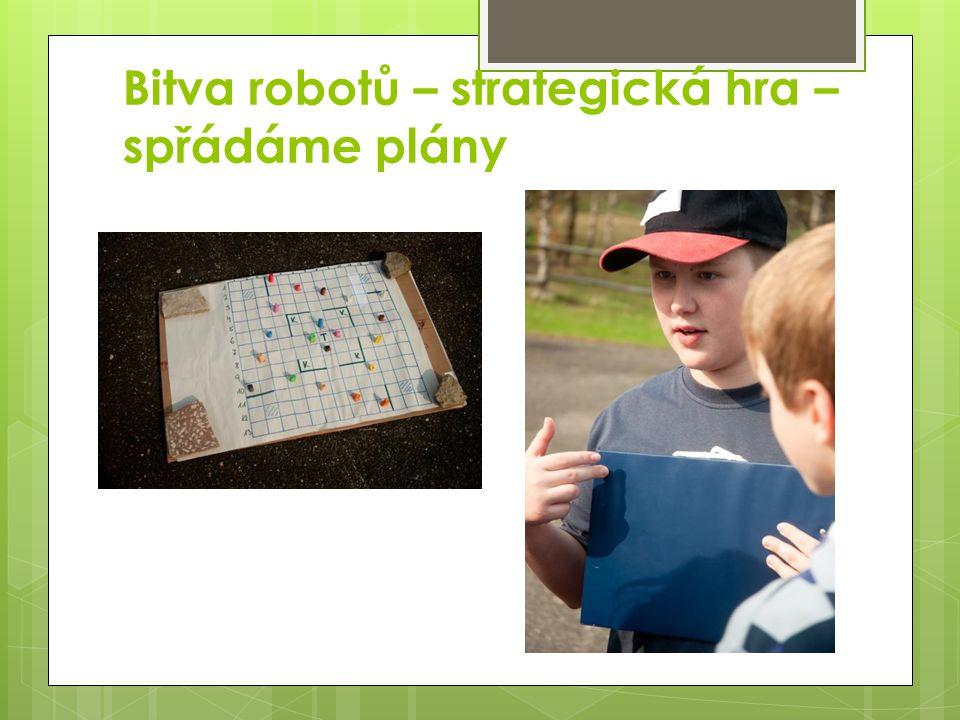 Bitva robotů – strategická hra – spřádáme plány