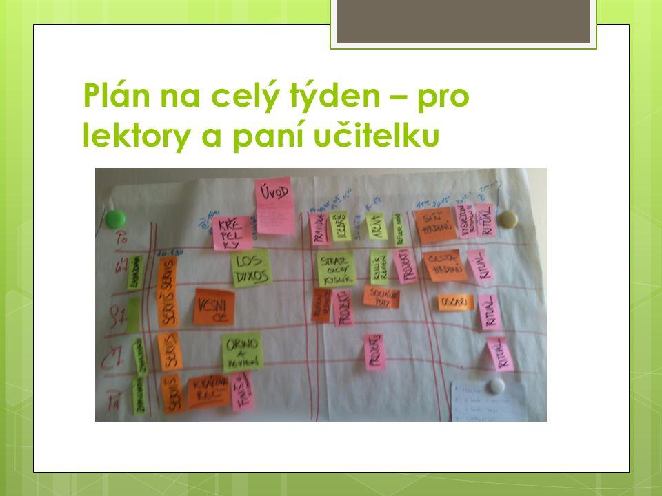 Plán na celý týden – pro lektory a paní učitelku