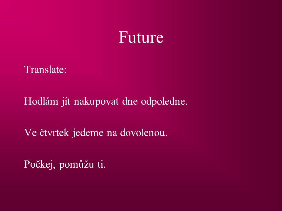 Future Translate: Hodlám jít nakupovat dnes odpoledne.
