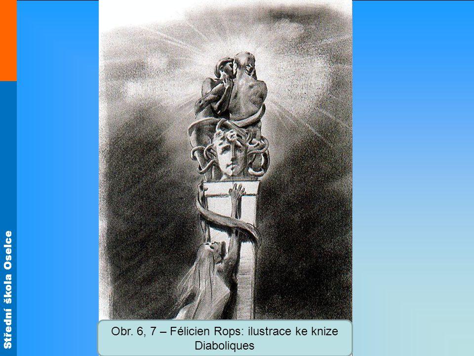 Střední škola Oselce Obr. 6, 7 – Félicien Rops: ilustrace ke knize Diaboliques