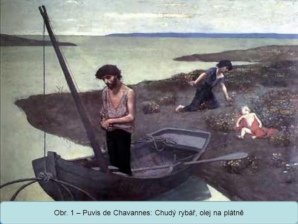 Střední škola Oselce Obr. 1 – Puvis de Chavannes: Chudý rybář, olej na plátně