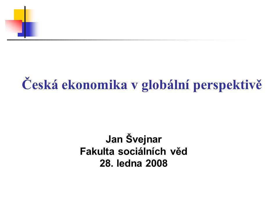 Podstata globalizace (2) Strach z globalizace (Čína, Indie, …) Předchozí vlny globalizace => tvrdá konkurence a nutná restrukturalizace Hlavní dopady současné globalizace.