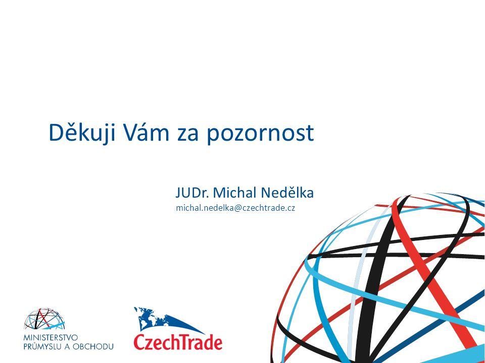 HESLO Děkuji Vám za pozornost JUDr. Michal Nedělka michal.nedelka@czechtrade.cz