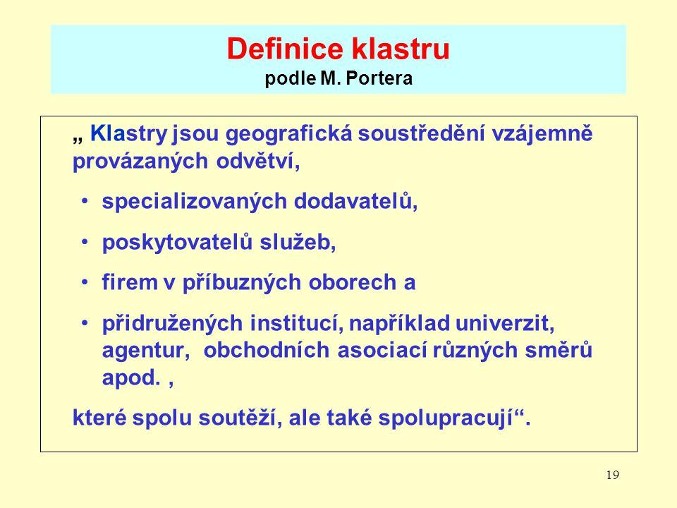 19 Definice klastru podle M.