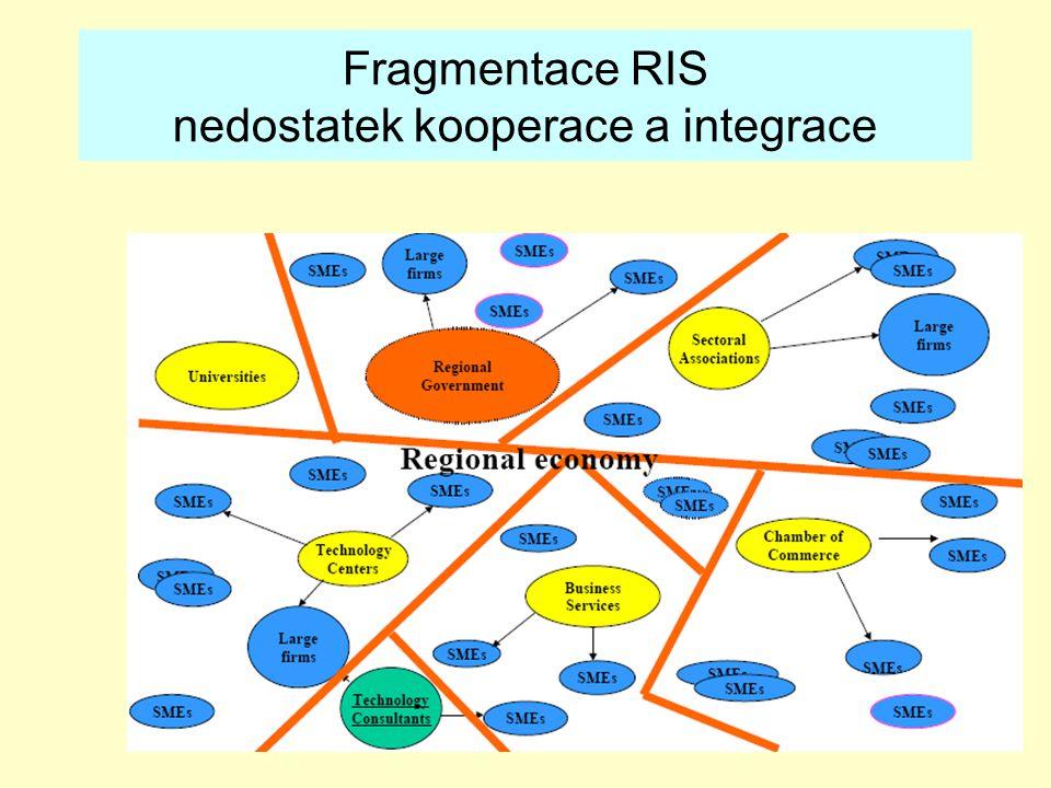 28 Fragmentace RIS nedostatek kooperace a integrace