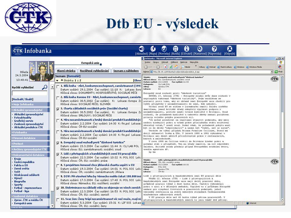 Dtb EU - výsledek
