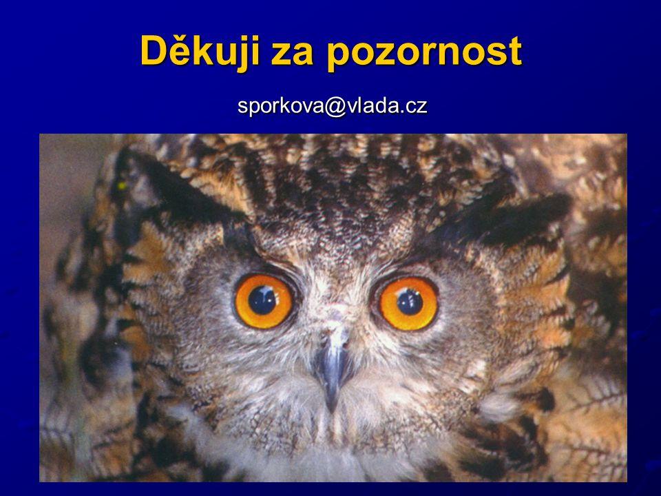 Děkuji za pozornost sporkova@vlada.cz