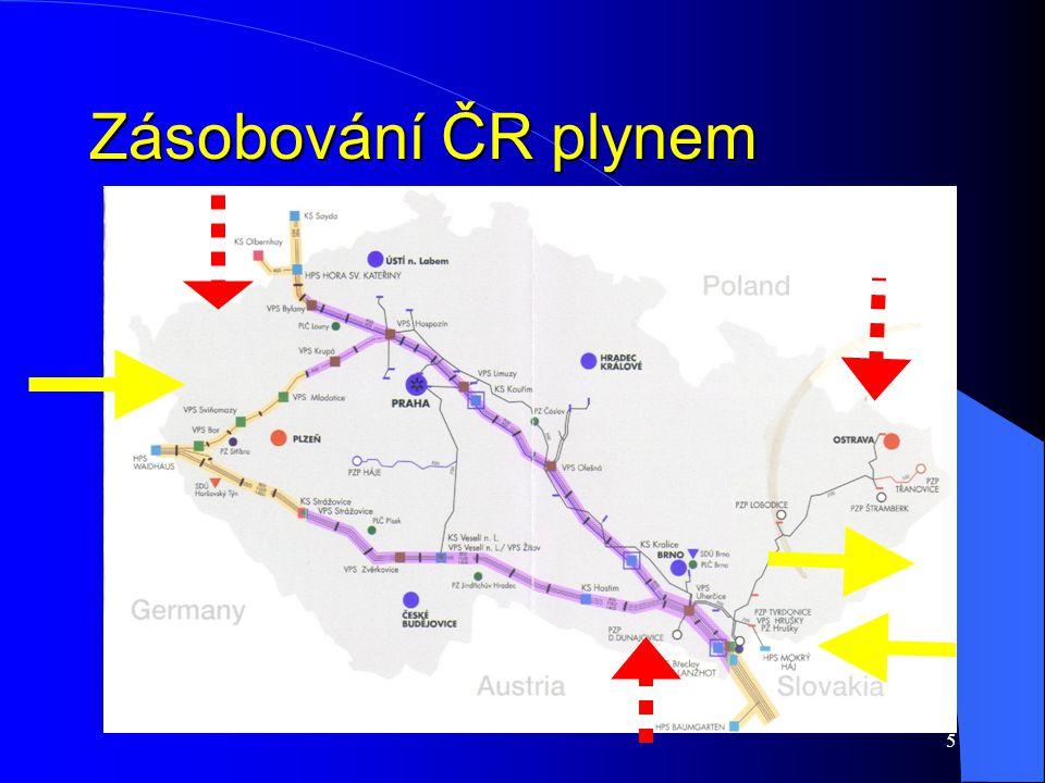 5 Zásobování ČR plynem