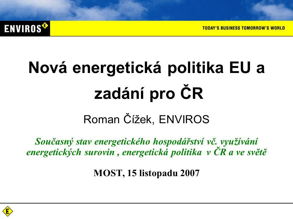 Roman Čížek, ENVIROS Současný stav energetického hospodářství vč.