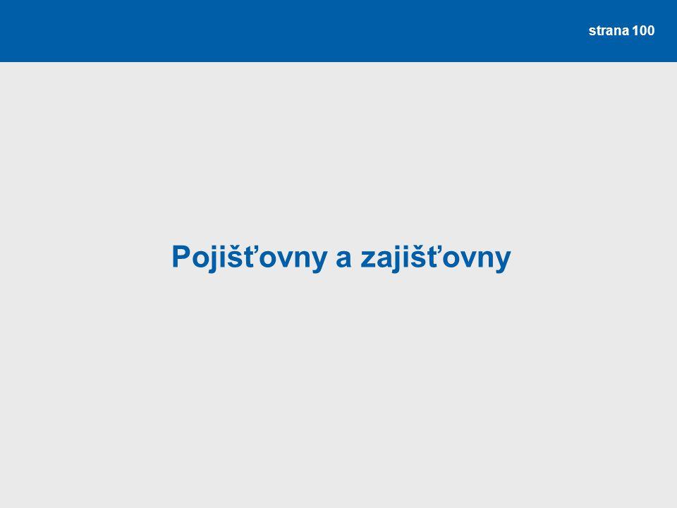strana 100 Pojišťovny a zajišťovny