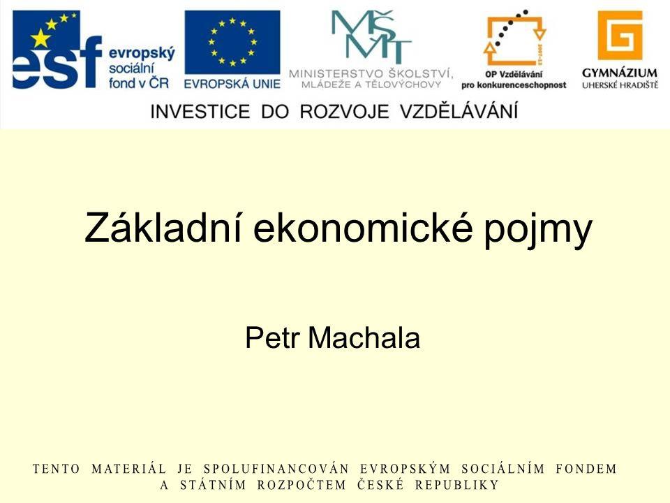Základní ekonomické pojmy Petr Machala