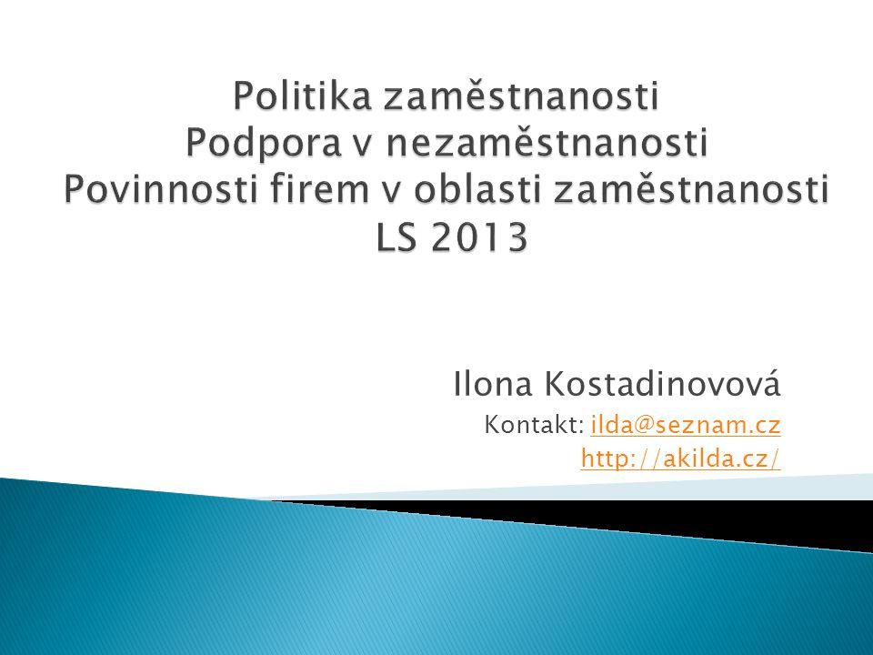 Ilona Kostadinovová Kontakt: ilda@seznam.czilda@seznam.cz http://akilda.cz/