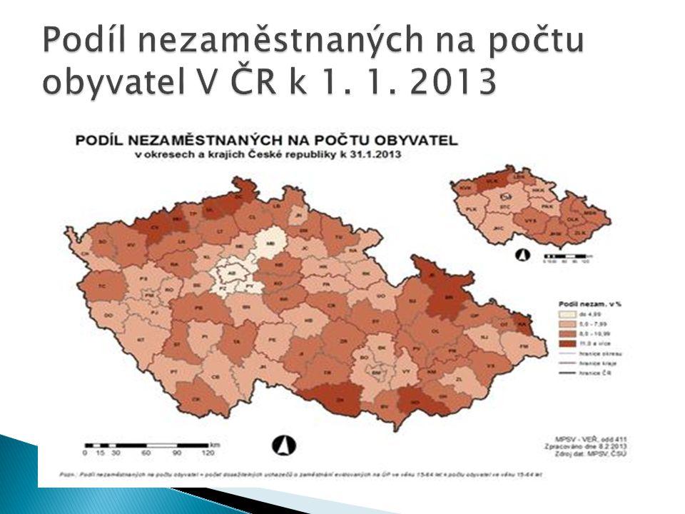  K 31.březnu 2013 bylo v České republice bez práce 587 768 lidí.
