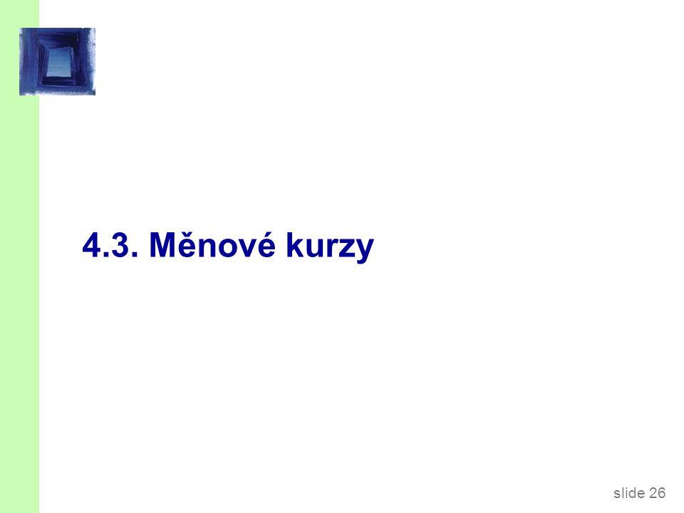 slide 26 4.3. Měnové kurzy