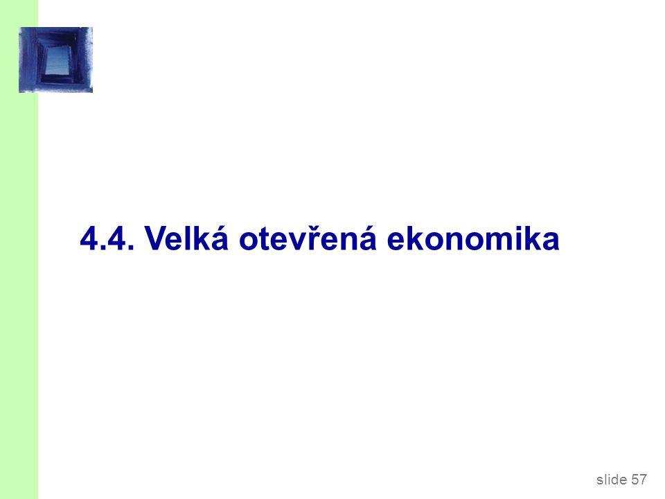 slide 57 4.4. Velká otevřená ekonomika