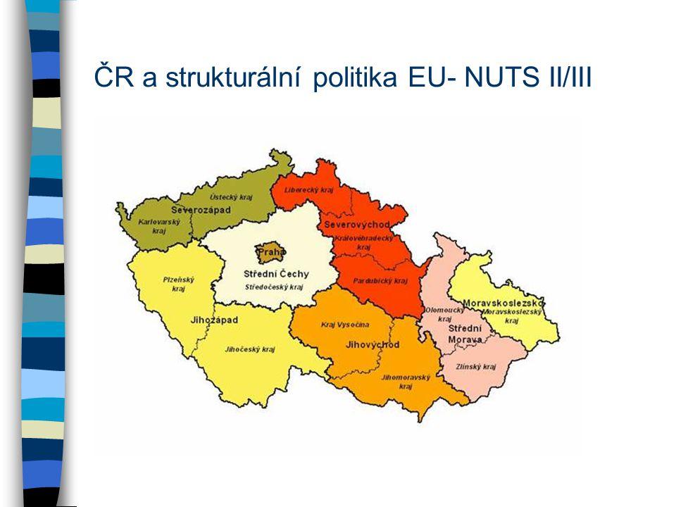 ČR a strukturální politika EU- NUTS II/III