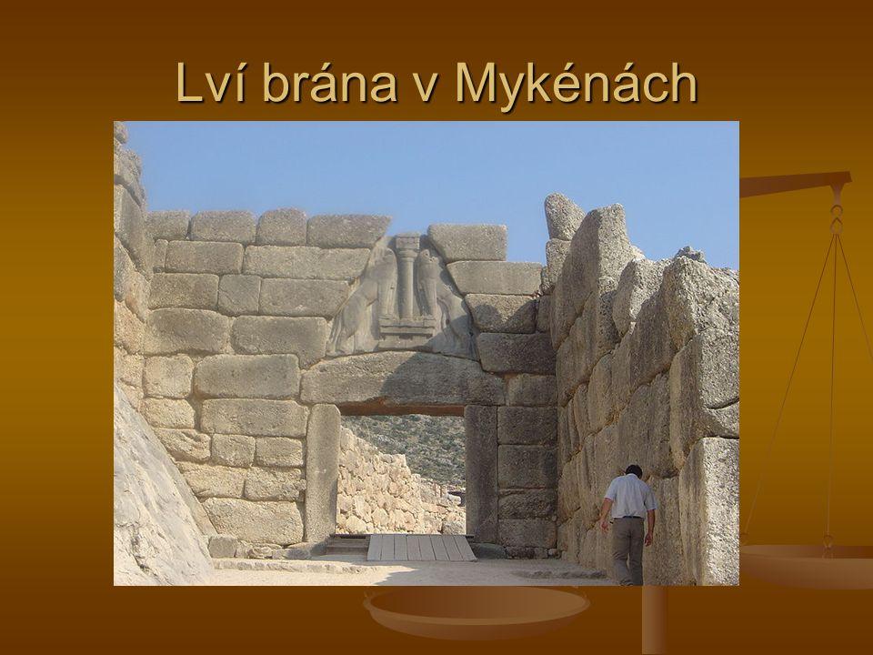 Lví brána v Mykénách