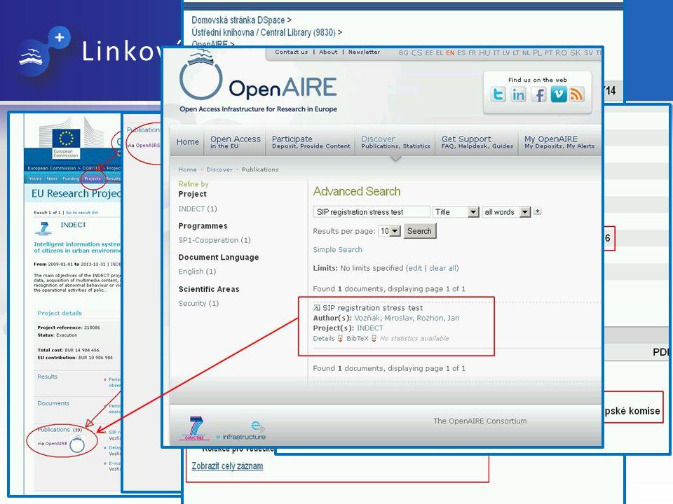 Linkování mezi publikacemi a projekty Otevřené repozitáře 2013, VUT v Brně, 29.-30.5.2013