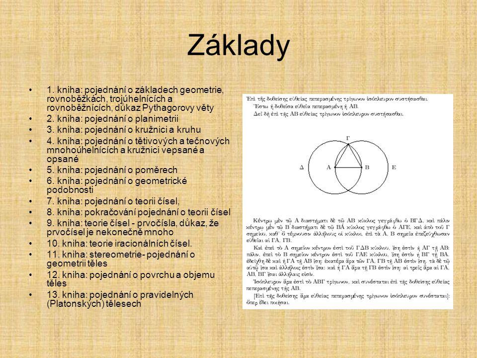 Euklides Eukleidés též Euklides nebo Euklid (řecky Ε ὐ κλείδης, žil asi 325 př. n. l. – asi 260 př. n. l) Řecký matematik a geometr. Většinu života st