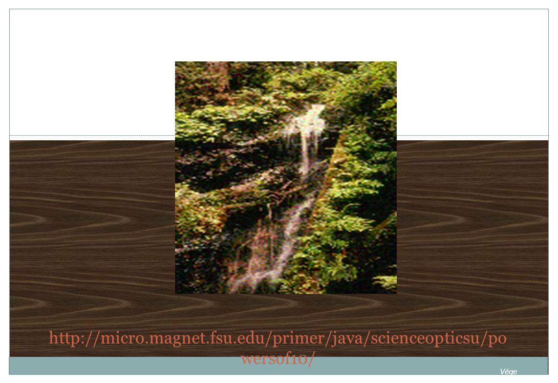 http://micro.magnet.fsu.edu/primer/java/scienceopticsu/po wersof10/ Vége