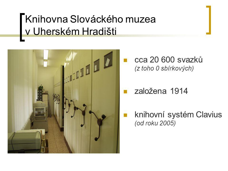 Knihovna Jana Kučery, Muzeum J.A.Komenského v Uherském Brodě cca 31 900 svazků ( z toho 595 sbírkových) založena 1898 knihovní systém WINISIS, DEMUS-archiv