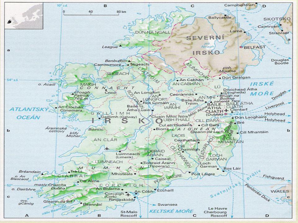 Irsko v přehledu  Oficiální název:  Oficiální název: Republika Irsko  Rozloha v km 2 :  Rozloha v km 2 : 70 283  Počet obyvatel:  Počet obyvatel: 3 521 000  Hustota zalidnění (obyv.