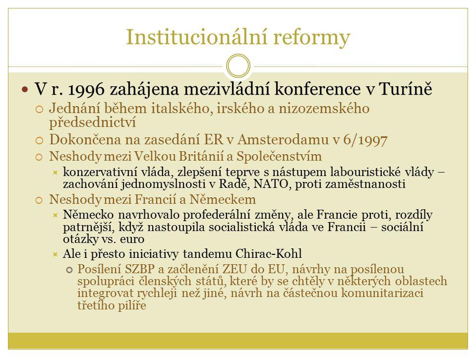 Institucionální reformy V r.