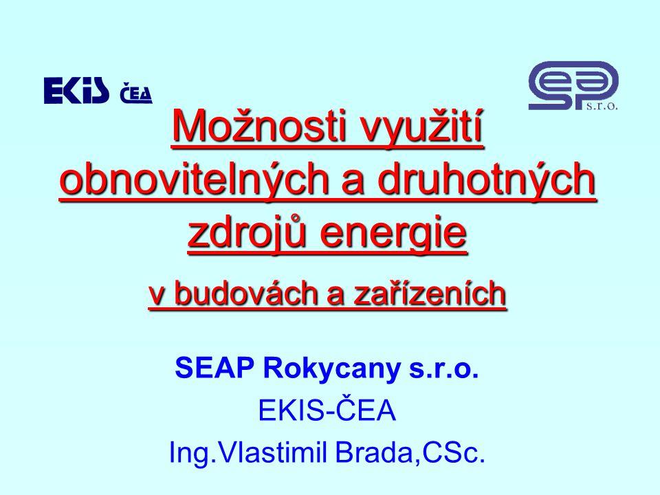 Možnosti využití obnovitelných a druhotných zdrojů energie v budovách a zařízeních SEAP Rokycany s.r.o.