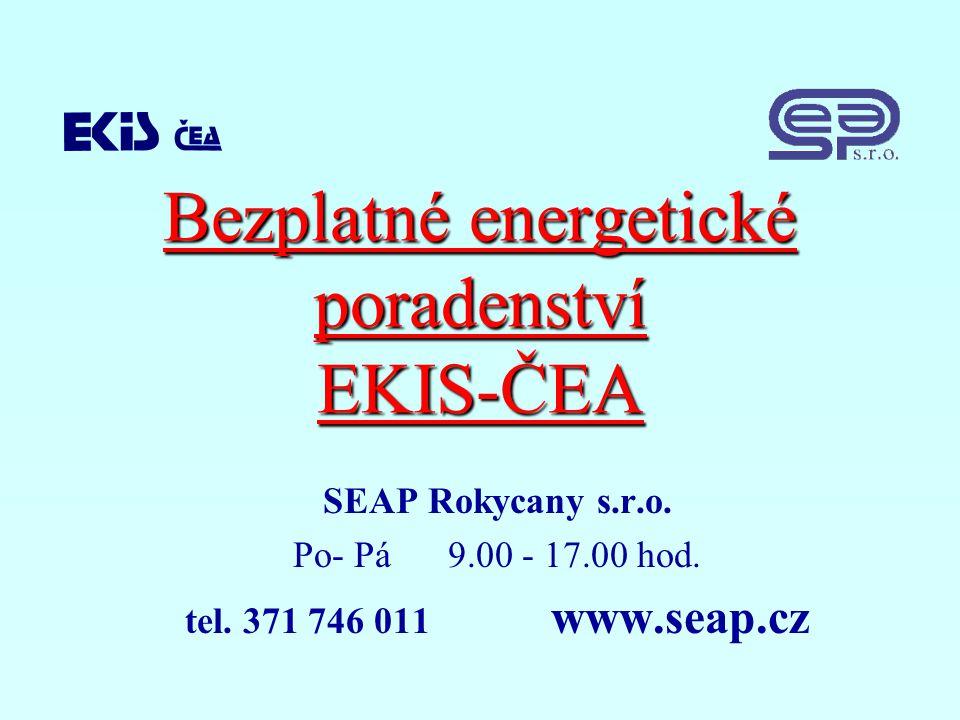 Bezplatné energetické poradenství EKIS-ČEA SEAP Rokycany s.r.o.