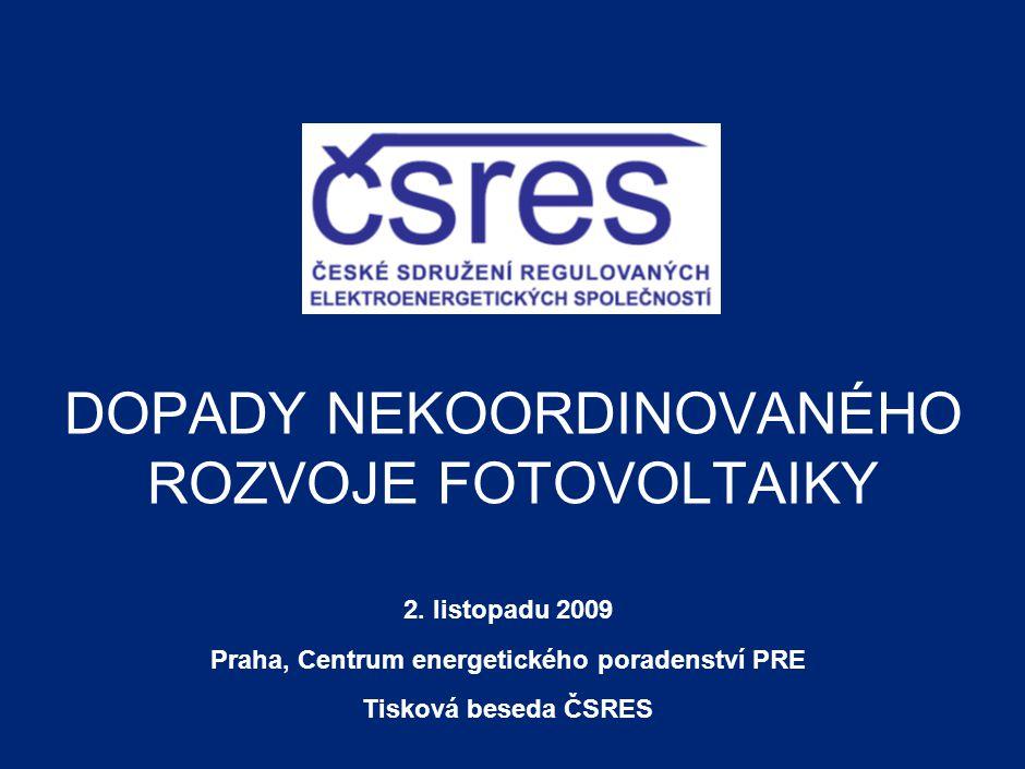 DOPADY NEKOORDINOVANÉHO ROZVOJE FOTOVOLTAIKY 2.