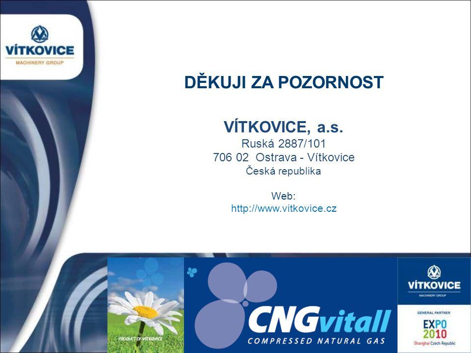 DĚKUJI ZA POZORNOST VÍTKOVICE, a.s. Ruská 2887/101 706 02 Ostrava - Vítkovice Česká republika Web: http://www.vitkovice.cz