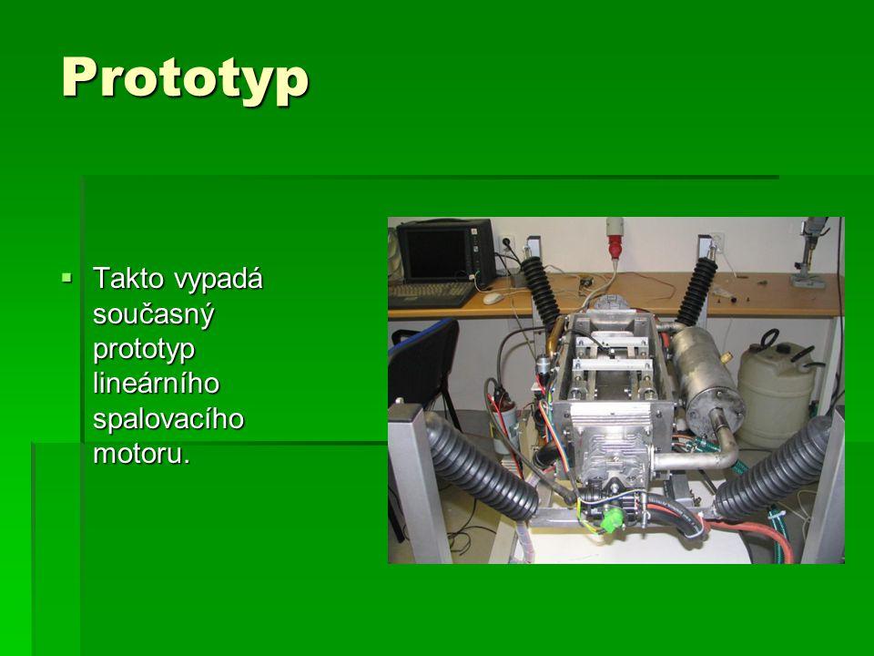 Prototyp  Takto vypadá současný prototyp lineárního spalovacího motoru.