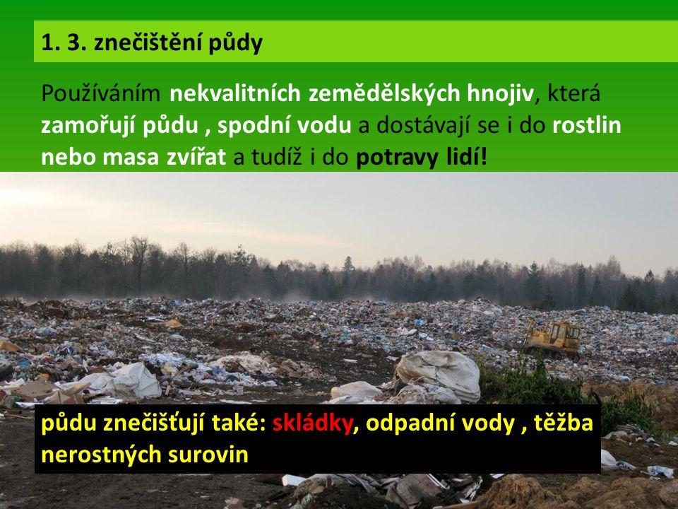 Používáním nekvalitních zemědělských hnojiv, která zamořují půdu, spodní vodu a dostávají se i do rostlin nebo masa zvířat a tudíž i do potravy lidí!