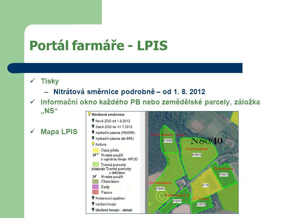 Portál farmáře - LPIS Tisky –Nitrátová směrnice podrobně – od 1.