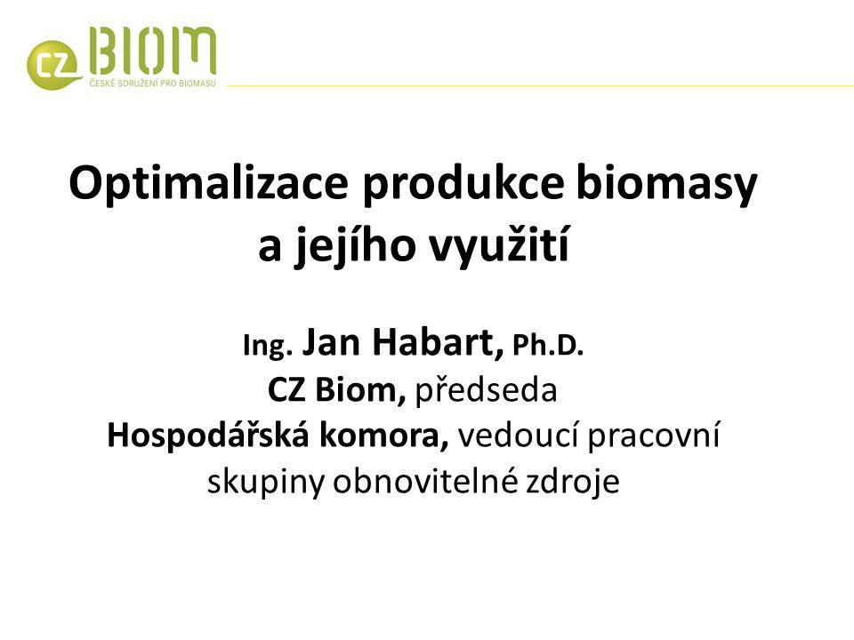 Optimalizace produkce biomasy a jejího využití Ing.