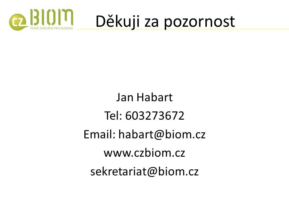 Děkuji za pozornost Jan Habart Tel: 603273672 Email: habart@biom.cz www.czbiom.cz sekretariat@biom.cz