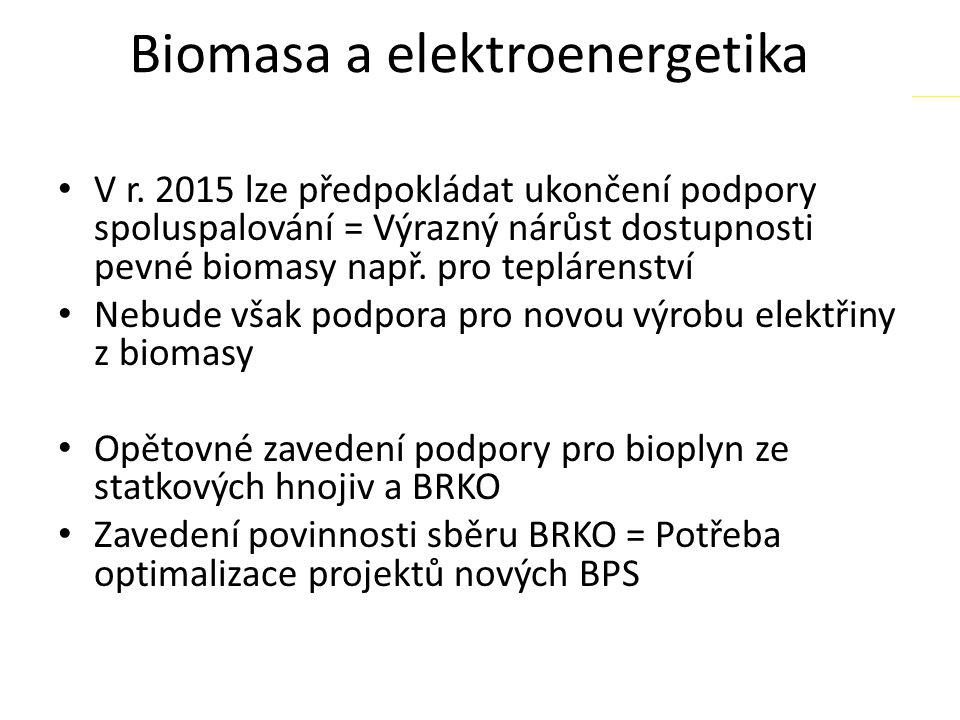 Biomasa a elektroenergetika V r.