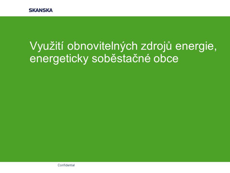 Confidential Využití obnovitelných zdrojů energie, energeticky soběstačné obce