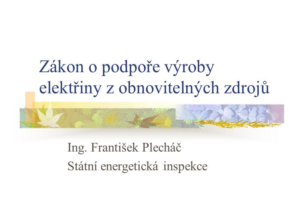Zákon o podpoře výroby elektřiny z obnovitelných zdrojů - Zákon č.