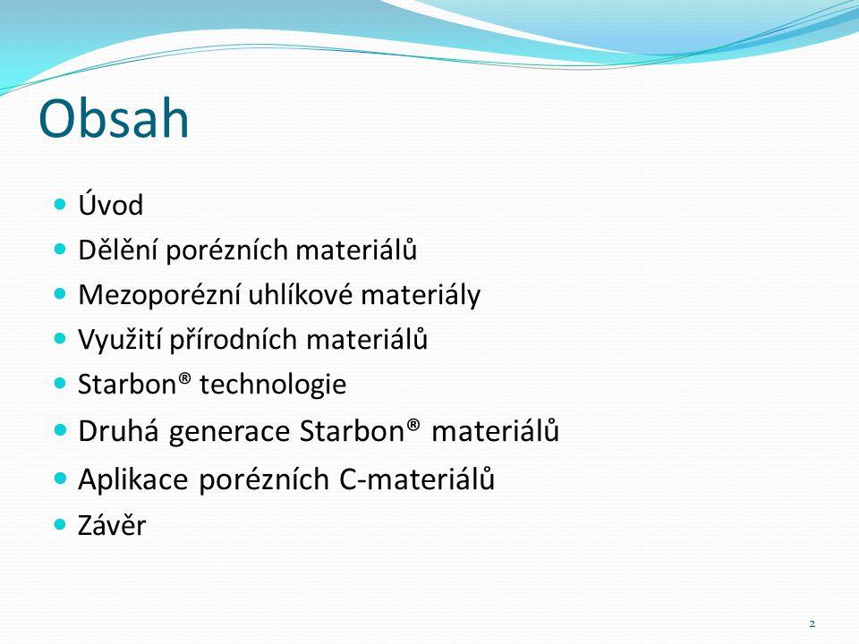 Úvod Transformace biomasy do stabilní porézní uhlíkové formy Šíroké aplikační možnosti 3 [1]