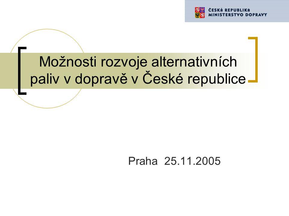 Možnosti rozvoje alternativních paliv v dopravě v České republice Praha 25.11.2005