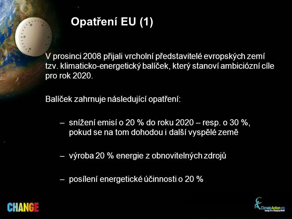 V prosinci 2008 přijali vrcholní představitelé evropských zemí tzv.