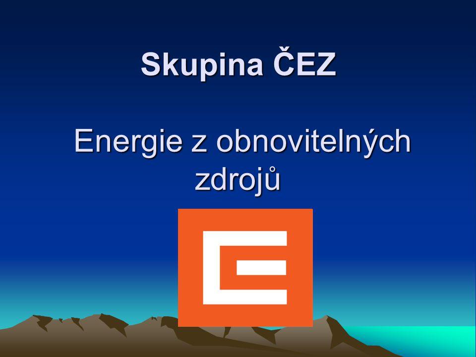 Skupina ČEZ Energie z obnovitelných zdrojů