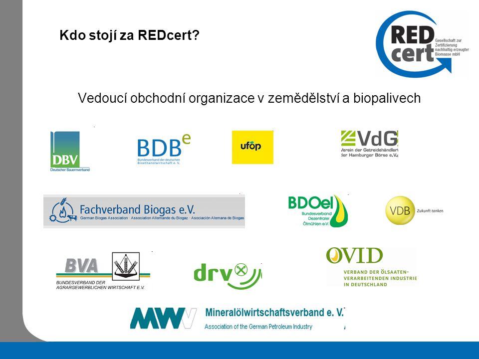 Kdo stojí za REDcert Vedoucí obchodní organizace v zemědělství a biopalivech