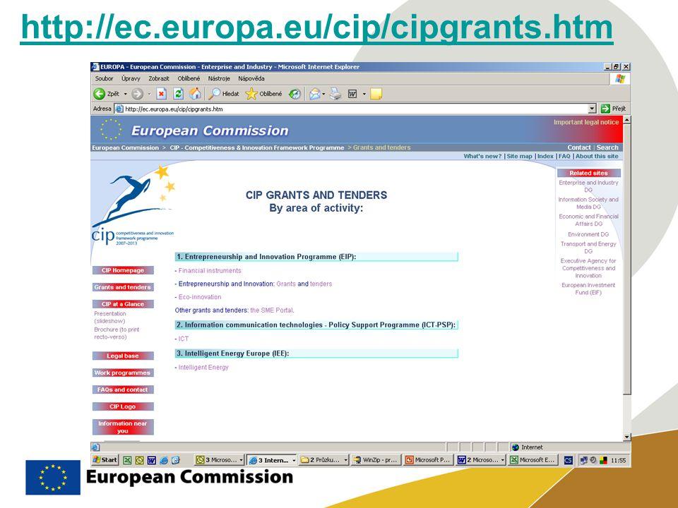 http://ec.europa.eu/cip/cipgrants.htm