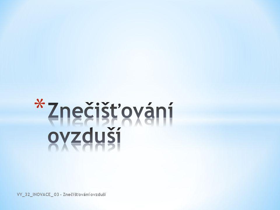 VY_32_INOVACE_ 03 - Znečišťování ovzduší